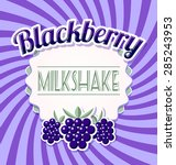 Blackberry Milkshake Label In...