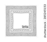 hand drawn doodle border frames.... | Shutterstock .eps vector #285245153