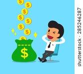cartoon relax businessman... | Shutterstock .eps vector #285246287