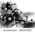 musical background. eps 10... | Shutterstock .eps vector #285247823