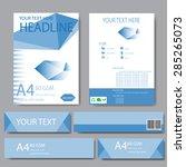 abstract geometric vector... | Shutterstock .eps vector #285265073