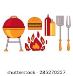 infographic elements food grill ... | Shutterstock .eps vector #285270227