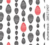 seamless pattern with oval... | Shutterstock .eps vector #285271907