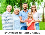 happy to be a family. happy... | Shutterstock . vector #285272837