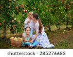 young beautiful mother and her...   Shutterstock . vector #285276683