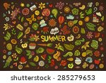 summer nature hand drawn vector ... | Shutterstock .eps vector #285279653