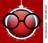 vector   merry christmas red... | Shutterstock .eps vector #285280187