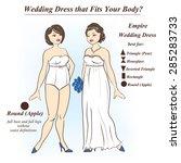 infographic of empire wedding...   Shutterstock .eps vector #285283733