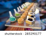 thai dessert on buffet line | Shutterstock . vector #285290177