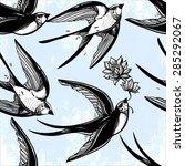 vintage elegant seamless... | Shutterstock .eps vector #285292067