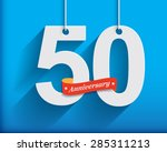 50 anniversary numbers with... | Shutterstock .eps vector #285311213