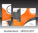 tri fold orange brochure | Shutterstock .eps vector #285311357