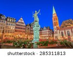 romer the old town of frankfurt ... | Shutterstock . vector #285311813
