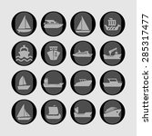 ship cruise yacht icon set | Shutterstock .eps vector #285317477