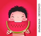 a vector illustration of cute... | Shutterstock .eps vector #285320423