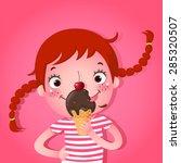 a vector illustration of cute... | Shutterstock .eps vector #285320507