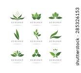 eco green logos vector | Shutterstock .eps vector #285326153