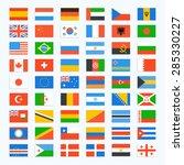 flag of world. vector icons set | Shutterstock .eps vector #285330227