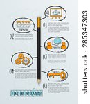 creative timeline infographic... | Shutterstock .eps vector #285347303