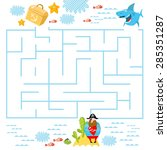 vector game for children with a ... | Shutterstock .eps vector #285351287