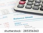 balance sheet report with... | Shutterstock . vector #285356363