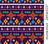 aztec tribal art colorful... | Shutterstock .eps vector #285365237
