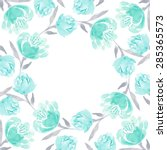 Watercolor Floral Wreath Of...