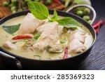 green chicken curry thai cuisine | Shutterstock . vector #285369323