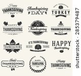 happy thanksgiving day design... | Shutterstock .eps vector #285379487