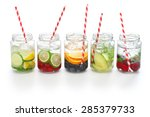 Detox Water On White Backgroun...