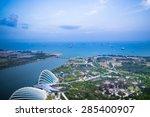Night View Of Singapore City...