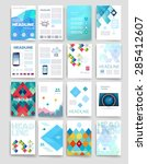 vector brochure design... | Shutterstock .eps vector #285412607