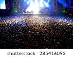 madrid   sep 13  crowd in a... | Shutterstock . vector #285416093