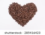 Coffee Beans In Shape Of Heart...