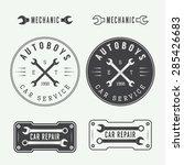 set of vintage mechanic labels  ... | Shutterstock .eps vector #285426683