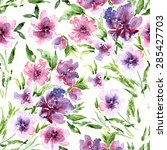 seamless floral pattern.... | Shutterstock .eps vector #285427703