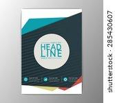 modern design   flyer  magazine ... | Shutterstock .eps vector #285430607