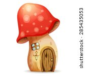 Fairy House Mushroom On A Whit...
