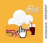 delivery food design  vector... | Shutterstock .eps vector #285436967
