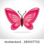 butterfly design over white... | Shutterstock .eps vector #285437723