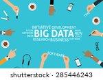 vector big data concept template | Shutterstock .eps vector #285446243