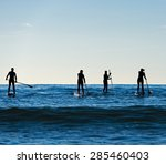 stand up paddle boarding in... | Shutterstock . vector #285460403