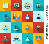 career flat icons set with...   Shutterstock .eps vector #285465233