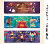 Circus Horizontal Banner Set...