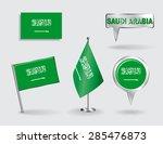 set of saudi arabian pin  icon... | Shutterstock .eps vector #285476873