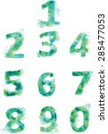 alphabet  numbers and... | Shutterstock .eps vector #285477053