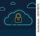 line illustration of  cloud...   Shutterstock .eps vector #285478073