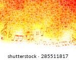 maple autumn leaves note | Shutterstock .eps vector #285511817