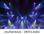 blur image of stage lights | Shutterstock . vector #285513683