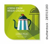 coffee kettle flat icon with... | Shutterstock .eps vector #285515183